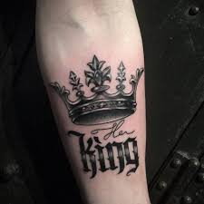 Terrific Crown Tattoo King Tattoos Neck Tattoo Tattoos For Guys