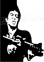 Scarface Silhouette 1 Decal Sticker Decalmonster Com