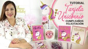Tarjeta Unicornio Invitacion De Cumpleanos Con Moldes Claudia
