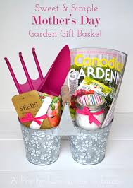 simple mother s day garden gift basket