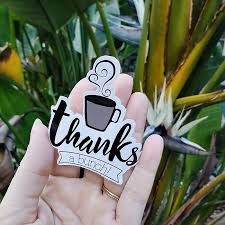 Thanks A Bunch Coffee Sticker Decal Vinyl Coffee Decal Thank Etsy Coffee Stickers Coffee Decal Thanks A Bunch