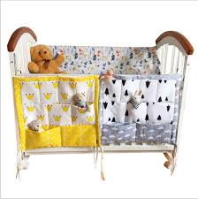 storage bags baby cot bed hanging bag