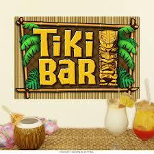 Tiki Bar Palms And Bamboo Wall Decal At Retro Planet