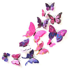Marainbow 12 Pcs 3d Butterfly Wall Stickers Decor Art Decorations Butterfly Wall Decals Removable Diy Home Decorations Art Decor Wall Stickers For Wall Decor Home Art Kids Room Bedroom Decor Walmart Com