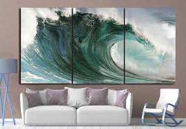 ocean waves art large ocean wall art