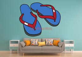 Flip Flops Wall Decals Removable Repositionable Fathead Style Let S Print Big