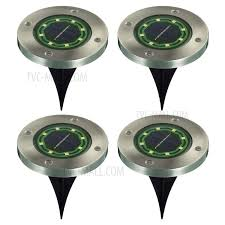 solar garden lights 8 led ground light