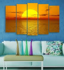 beautiful sunrise over ocean art