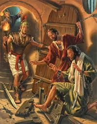 Image result for earthquake frees paul from prison in the bible