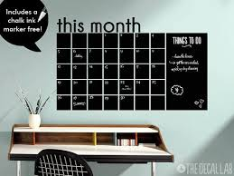 This Month Chalkboard Calendar Wall Decal Blackboard Monthly Wall Calendar Decal Free Ch Chalkboard Wall Calendars Office Wall Decals Chalkboard Wall Decal