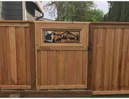 Smw0855 Custom Elk Gate Insert Panel Sunriver Metal Works