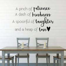 Pinch Of Patience A Dash Of Kindness Dining Room Vinyl Decor Wall Decal Customvinyldecor Com