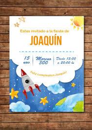 20 Invitaciones Para Nino Nene Planetas Cohetes Monstruos 360