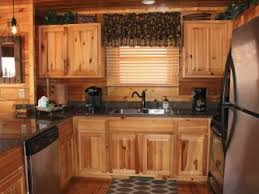 rustic kitchen cabinets in log homes