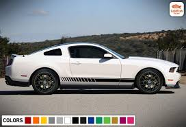 Amazon Com Gold Fish Decals Side Rocker Stripe Kit Sticker Decal Graphic Compatible With Ford Mustang Gt 2005 2014 Automotive