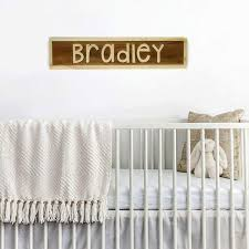 Kids Room Name Sign Personalized Wood Sign Wood Block Nursery Decor Joyful Moose