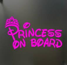 Princess On Board Sticker Jdm Funny Car Pink Girl Lady Love Window Decal Ebay