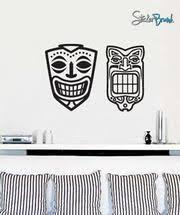 Vinyl Wall Decal Sticker Hawaiian Tiki Mask 543 Stickerbrand