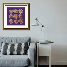 purple geode wall art by caffe arch