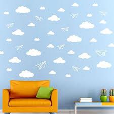 Aircraft Clouds Wall Decals Iuhan Diy Aircraft Clouds Wall Decals Children S Room Home Decoration Art White
