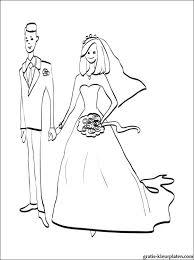 Kleurplaat Bruid En Bruidegom Gratis Kleurplaten