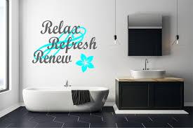 Relax Refresh Renew Vinyl Decal Relaxation Decor Home Decor Custom Decals Renew Decor Refresh Decor Yoga Decor Exercise Decor