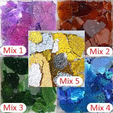150g glass cullet broken glass colored