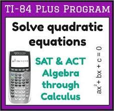 solve quadratic equations ti 83 84
