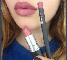 mac lipstick and lip liner image