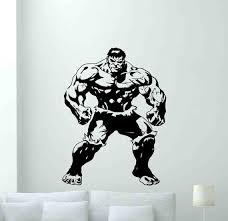 Hulk Wall Decal Sign Vinyl Sticker Stencil Superhero Poster Etsy