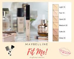 maybelline fit me concealer colour