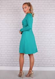 Sonya Long Sleeved Dress in Green – Redlane.ie