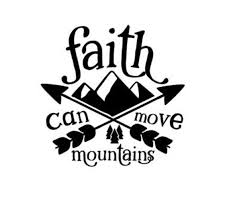 Faith Can Move Mountains Decal Car Decal Wall Decor Etsy