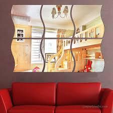 Hot Sales Diy 3d Mirror Vinyl Removable Wall Sticker Decal Home Decor Art 6pcs 758150922122 122425366676