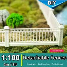 1 100 Detachable Fences Wall Ho Scale Building Sand Table Model Train Railway 1m Lazada Ph