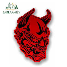 Earlfamily 13cm X 10cm Car Styling 3d Red Devil Vinyl Sticker Car Decal Motorbike Bike Helmet Laptop Satan Windows Accessories Car Stickers Aliexpress