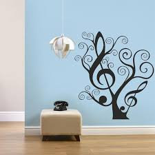 Tree Of Music Wall Decal Romantic Wall Decal Music Decor Etsy