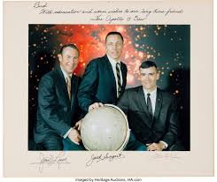 Apollo 13 Large Color Photo, with Jack Swigert, Crew-Signed on the | Lot  #50051 | Heritage Auctions