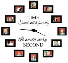 Buy Family Wall Decals With Pvc Clock Hands Time Spent With Family Is Worth Every Second Wall Decal Quote Home Decor Art Quote Decals Wall Art Stickers Decal Home Decor In Cheap Price On