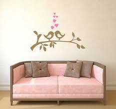 Birds On Branch Wall Decal Love Bird Decal Hearts Vinyl Sticker Home Decor Aa114 Ebay