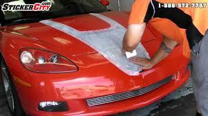 Chevy Corvette Decal 3d Carbon Fiber Stripe Youtube
