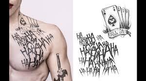 Suicide Squad Tatuaze Jokera I Harley Portretowe Zdjecia