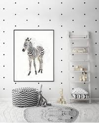 Zebra Print Kids Room Baby Zebra Safari Baby Shower Etsy
