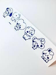 Bts Sticker Jungkook V Bt21 Cute Stickers For Laptop Car Decoration Cellphone For Sale Online Ebay