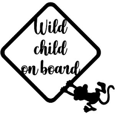 Wild Child On Board 6 Vinyl Decal Car Window Sticker Bumper Baby Shower Gift Ebay