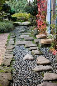 path with stepping stones and