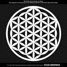 Flower Of Life Decal 4 Inch W White 6 Year Oracal 651 Free Shipping Life Flower Ccs Graphics