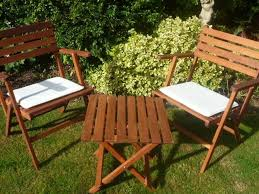 garden folding table 2 chairs in