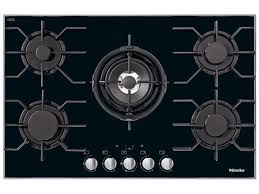 miele black glass gas cooktop