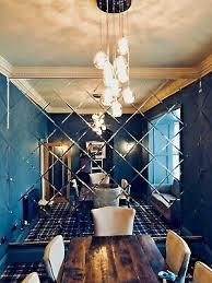 square bevelled edge mirror tiles for